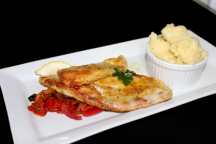 Tomi's Chef's Fish of the Day - this is an oven baked, Herb Crumbed Lemon Fish served with a Medley of Italian Vegetables