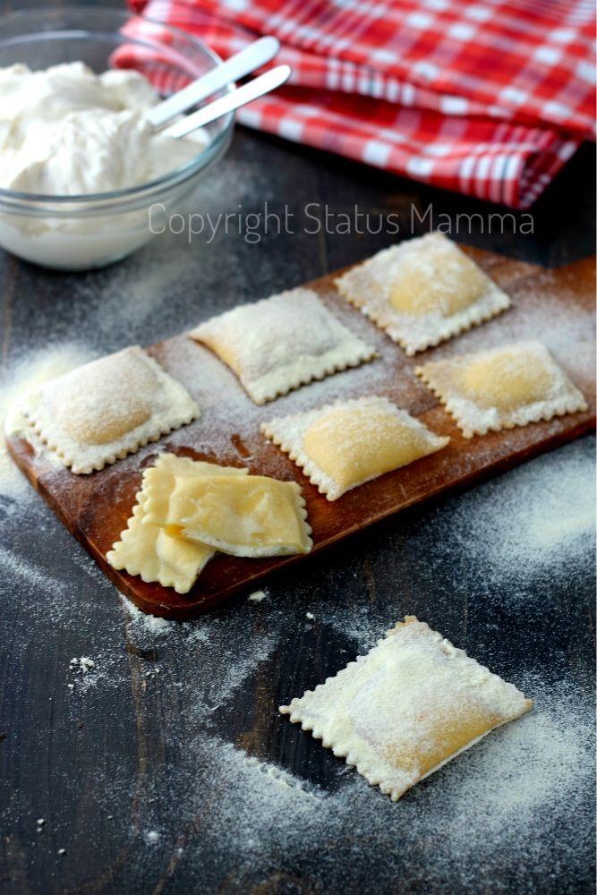 Ricetta ravioli ripieni alla ricotta e mascarpone primi pasta ripiena food recipes photograpy