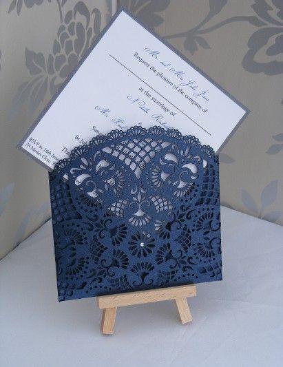 laser cut lace wedding invitations - Google Search