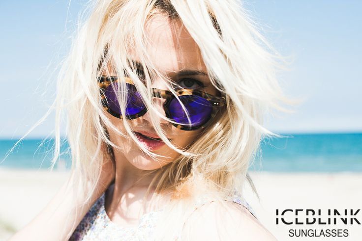 Iceblink sunglasses model #010 47 amber turtle blu mirror