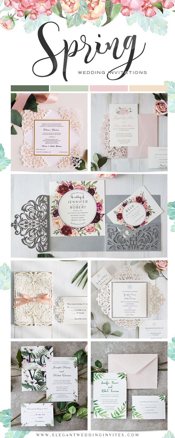 online wedding invite sites%0A Spring Inspired Wedding Invitations from EWI
