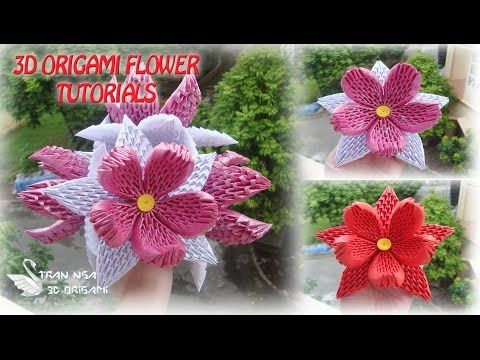 HOW TO MAKE 3D ORIGAMI FLOWER 1 | DIY PAPER FLOWER TUTORIALS - YouTube                                                                                                                                                                                 More