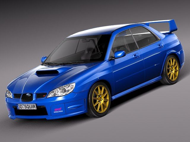 3D Subaru Impreza Sti 2006 - 3D Model