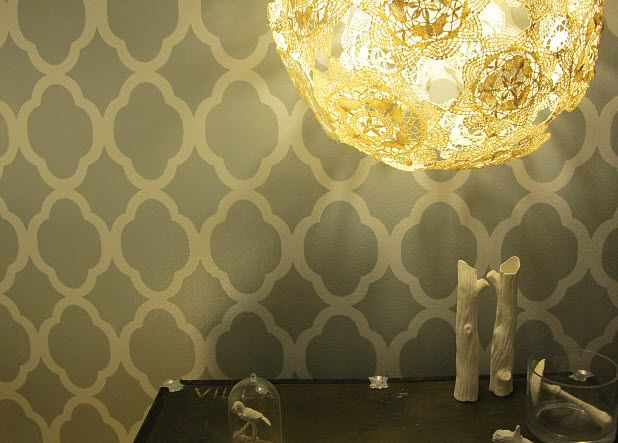 Doily lamp...... awesome idea for incorporating all the great-aunts' handmade lace into wedding decor??