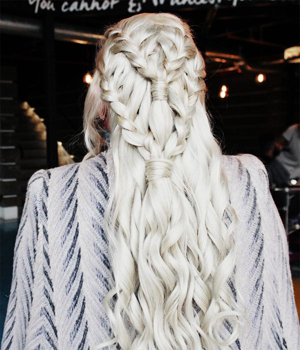 Game of Thrones Daenerys Targaryen (Khaleesi) Hair Tutorial!  (See more on the beauty blog)