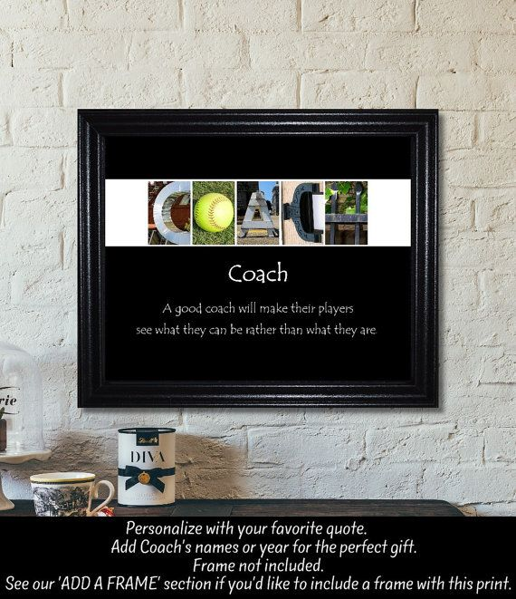 Softball coach gift softball gift softball by thelettergiftshop