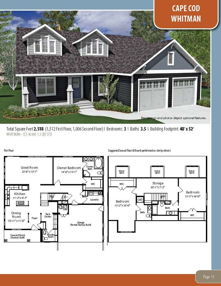 35 best cape cod, two story & relaxed living floor plan collection
