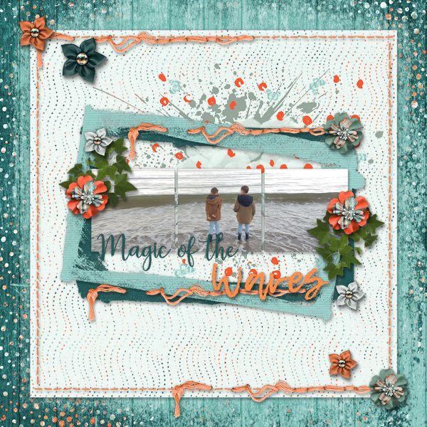 Magic of the Waves - digital scrapbook layout -    Credits:  Livin the Dream Grab Bag by Mandy King  at Gingerscraps    http://store.gingerscraps.net/Livin-The-Dream-5-Grab-Bag.html