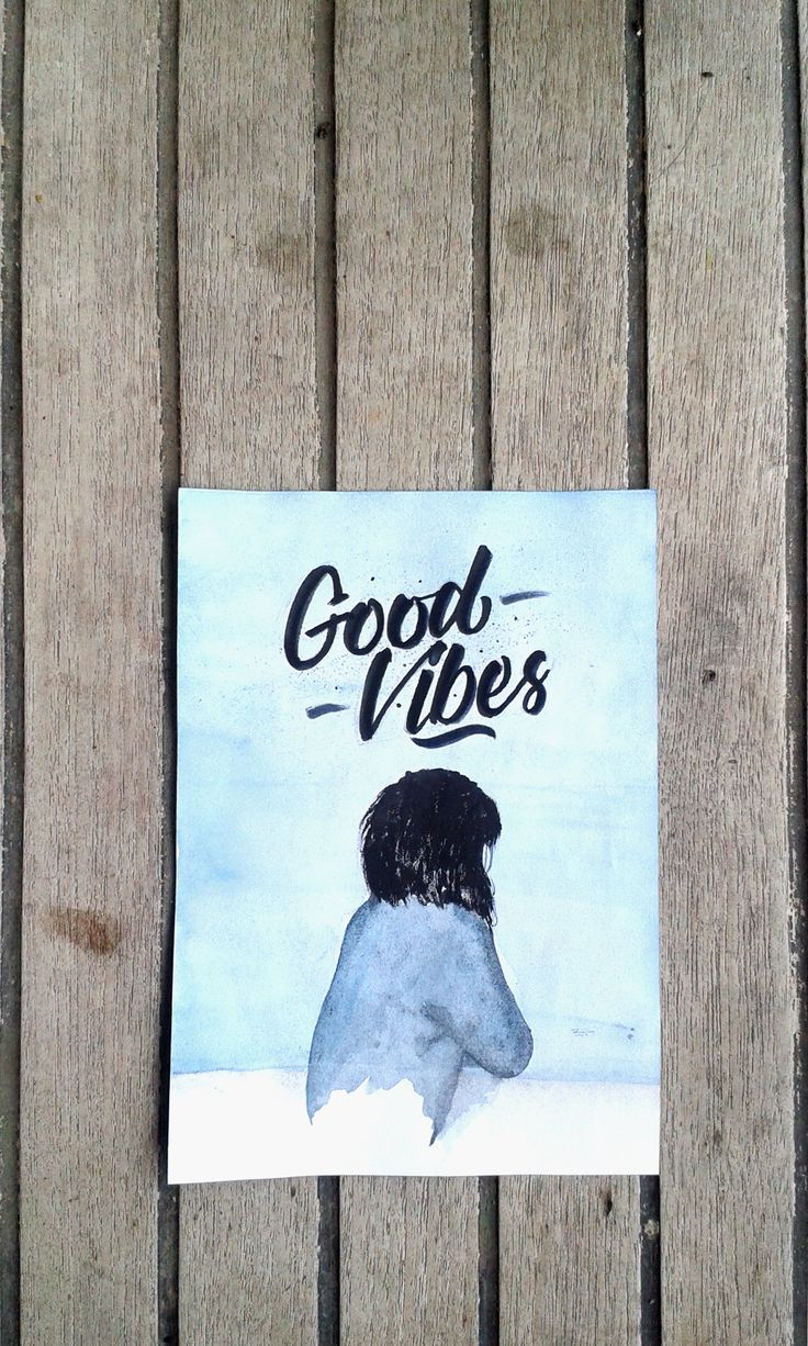 Only good vibes. #lettering #handlettering #letteringart #watercolor #watercolorart
