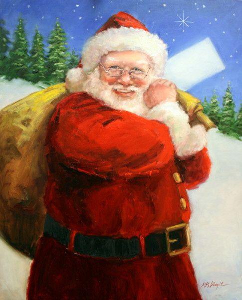 Santa with a Sack (by Mary Miller Veazie): Santa Clause, Santa Claus, Christmas Art, Santa Baby, Santa S, Kris Kringle, Claus Illustrations
