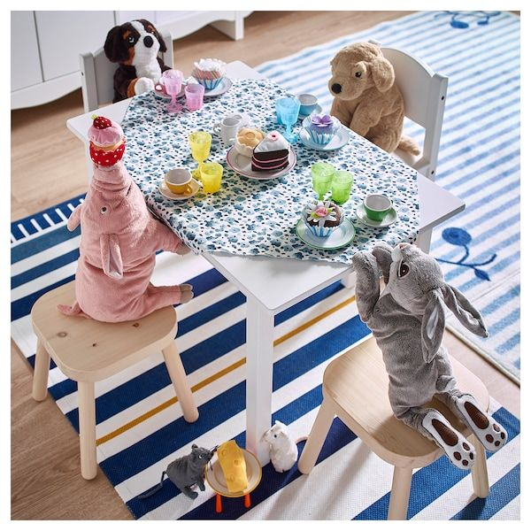 SUNDVIK Table enfant, blanc, 76x50 cm IKEA en 2020 | Table