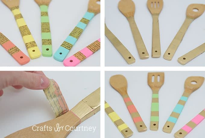 Easy Wooden Spoon Makeover Paint Mod Podge Wooden Spoons Mod Podge Dishwasher Safe Mod Podge