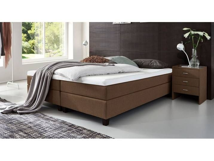 Boxspringbett Ohne Kopfteil 160x200 Cm Braun H2 Luciano Bett Paint Colors For Living Room Bed Living Room Colors
