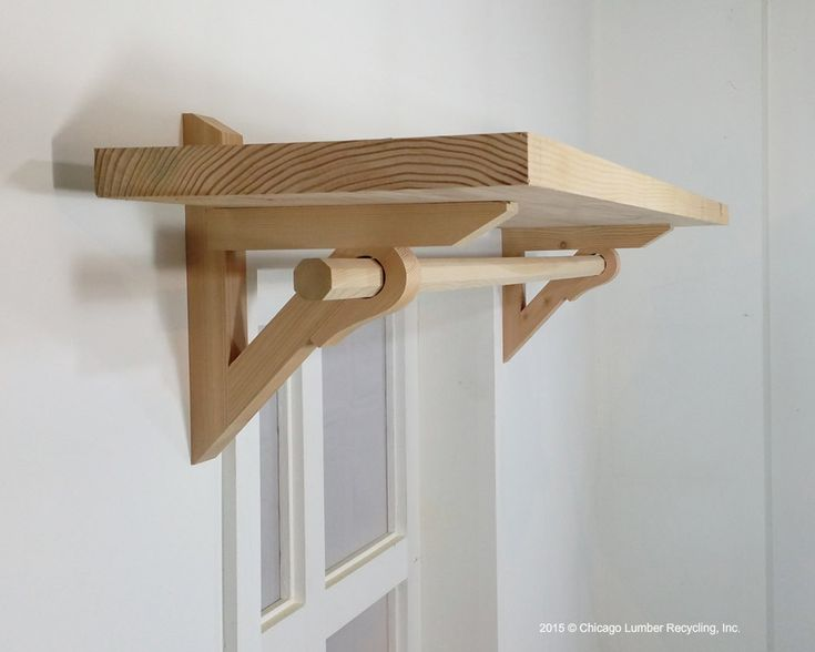 Shelf Bracket Support With Curtain Drapery Rod Holder