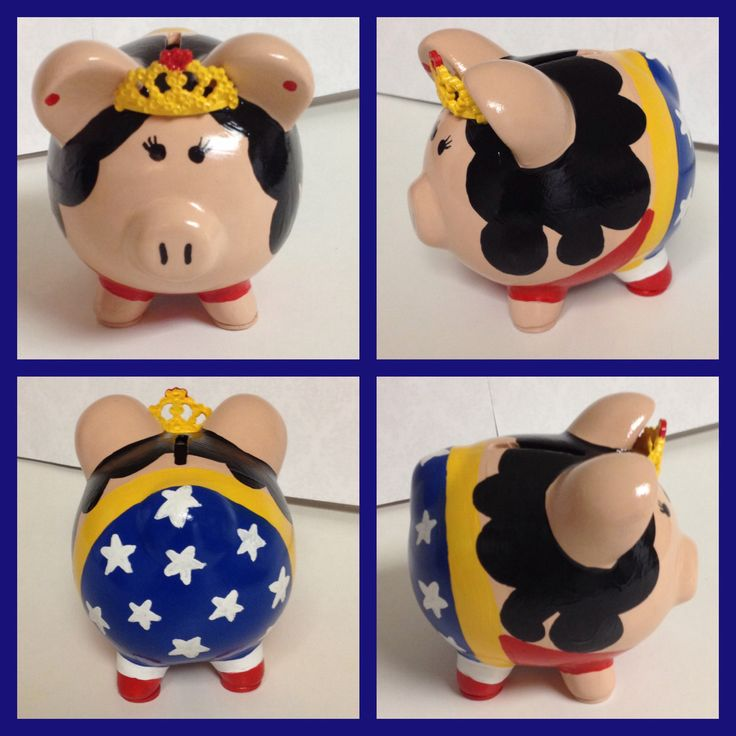 Wonder Woman piggy bank