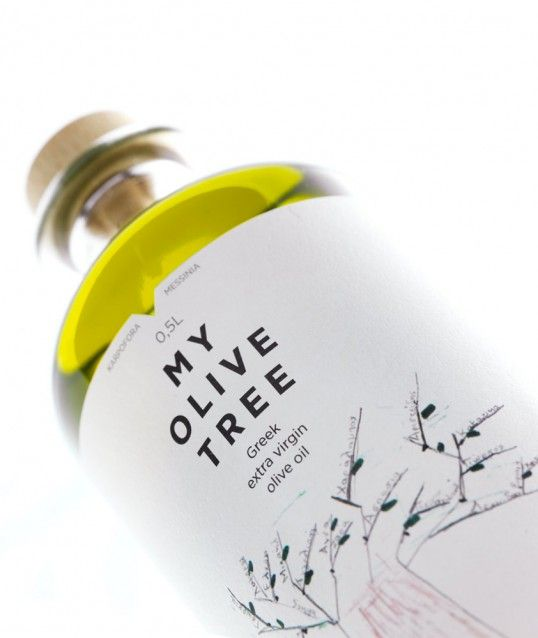 My Olive Tree olive oil packaging by Mousegraphics, Greece