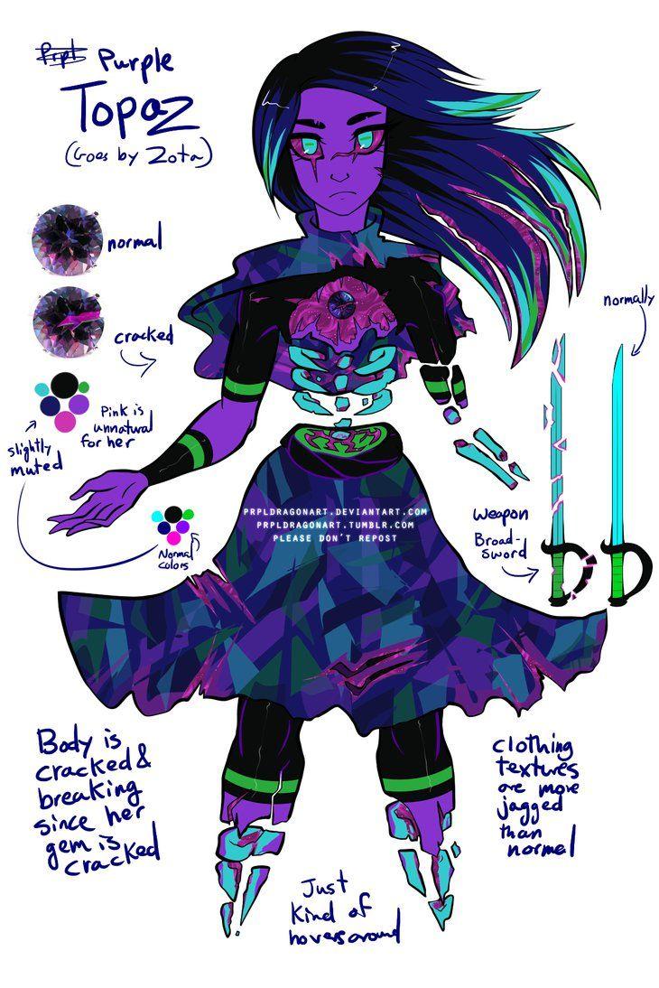 Steven universe gem oc purple topaz prpldragonart on deviantart