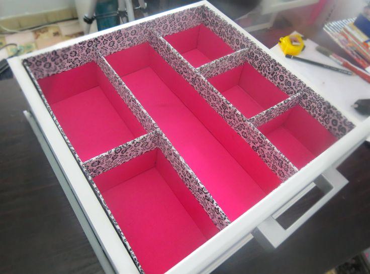 Diy - Como fazer um organizador de gavetas