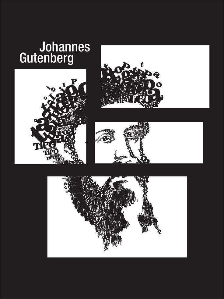 Johannes Gutenberg (Mogúncia, ca. 1398 — 3 de fevereiro de 1468) foi um inventor e gráfico alemão. Sua invenção do tipo mecânico móvel para impressão começou a Revolução da Imprensa e é amplamente considerado o evento mais importante do período moderno. #type #typography #stencil #streetart
