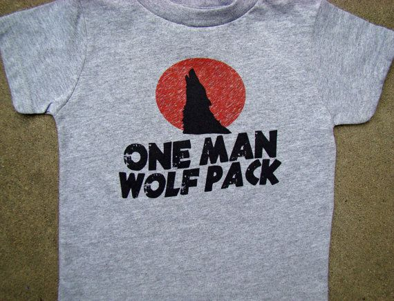 WOLF PACK child size tee - One Man Wolf Pack -Hangover inspired - Funny Wolf pack shirt