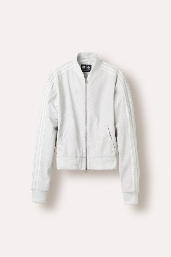 La superstar track jacket adidas Originals = Pharrell Williams en cuir nappa perforé