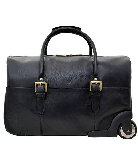 Hidesign Charles Cabin Sized Leather Wheeled Luggage