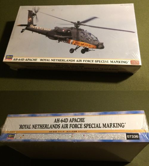 Other Military Models and Kits 1191: Hasegawa Ah 64D Apache Royal Netherlands 7336 Scale 1:48 Jande Hobby -> BUY IT NOW ONLY: $44.99 on eBay!