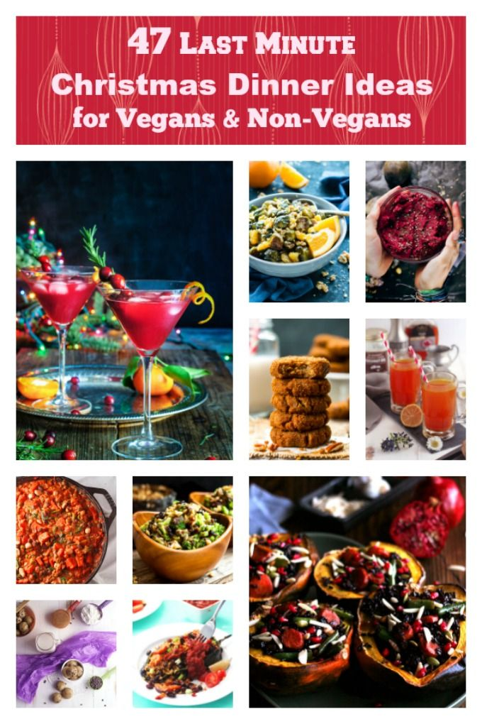 Ho Ho Ho, Merry Christmas! Santa brought you a special present this year with these 47 Amazing Christmas Dinner Ideas for vegans and non-vegans alike. Christmas has never tasted this good!