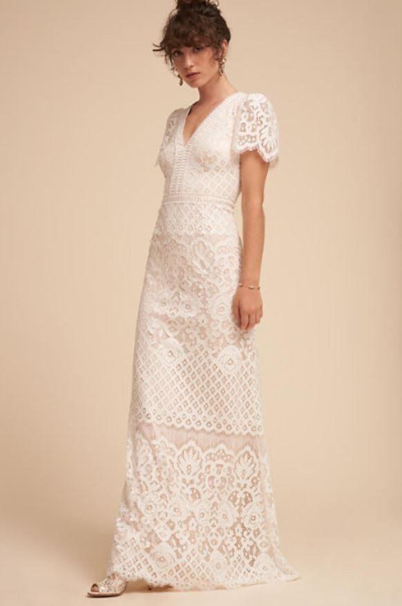 f7d4fe5ac634 bhldn wedding dress size 12 sold out new unaltered tadashi shoji minuet  ivory