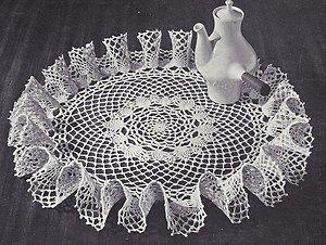 Ruffled Crochet Doily