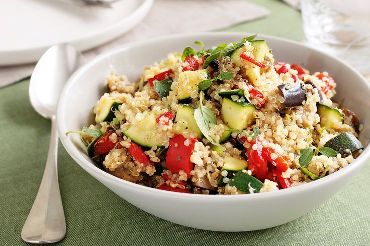 Vegetable quinoa pilaf #lowgi #vegetarian http://www.taste.com.au/recipes/25152/vegetable+quinoa+pilaf