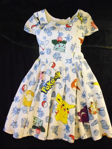Pokemon Dress size 10 Homemade 90's Kid Nerd Pikachu Alternative Kawaii Anime | eBay
