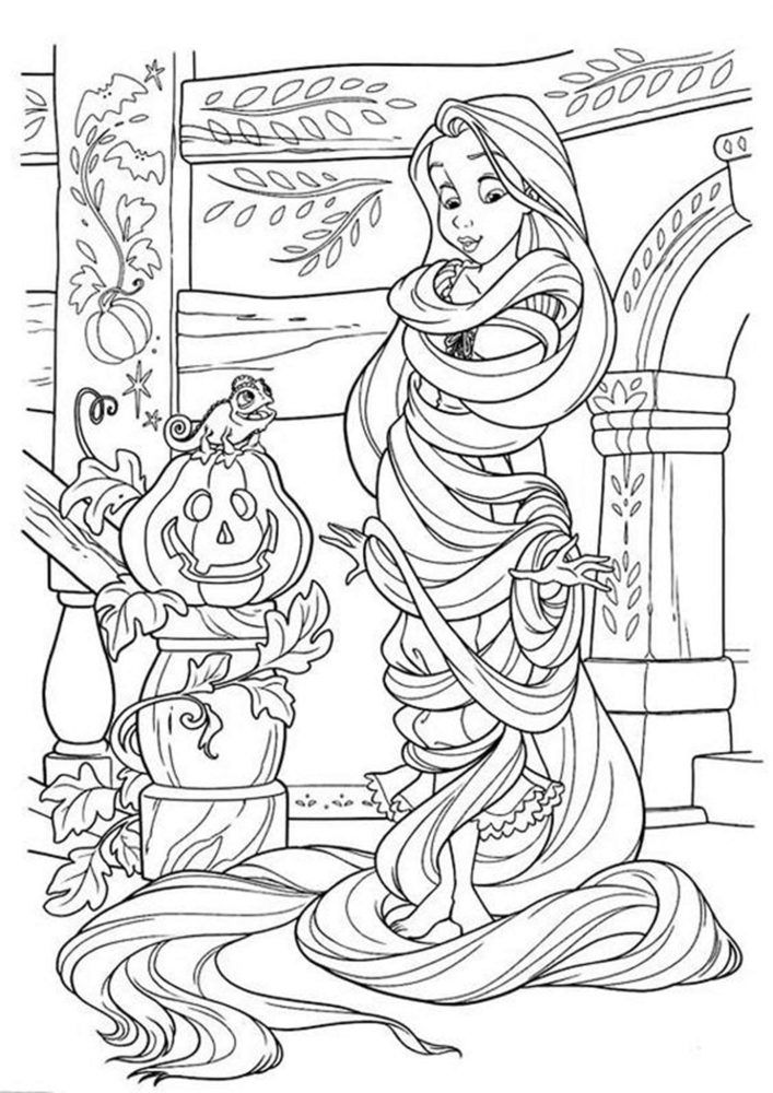 Free Easy To Print Tangled Coloring Pages Tangled Coloring Pages Halloween Coloring Pages Rapunzel Coloring Pages