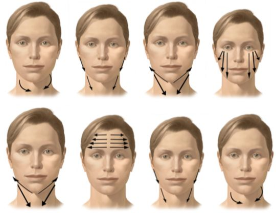 Une Facial massage to help lymph