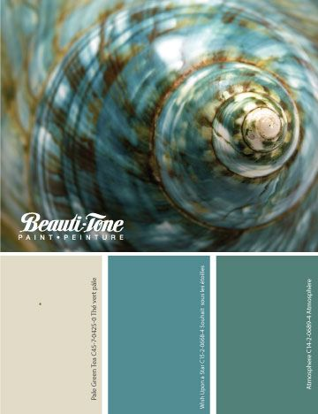 Discover #BeautiTone's gorgeous #colour scheme inspired by the jewels of the sea. This palette paints a room with tranquility.