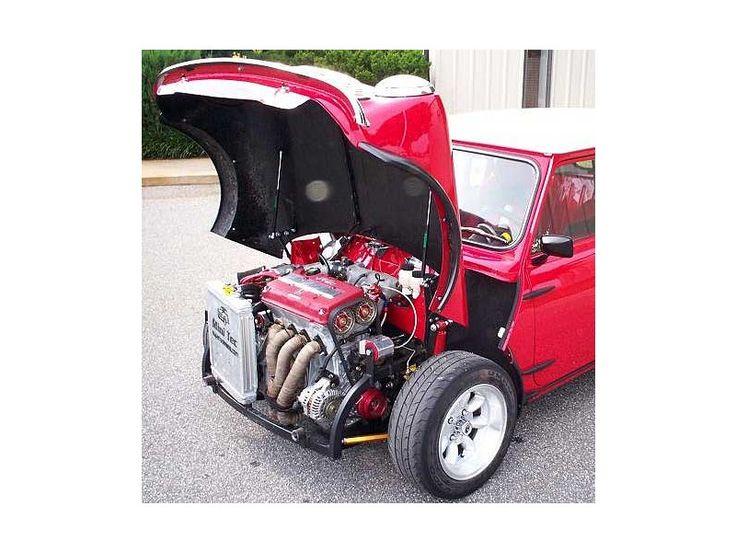 Classic Mini Cooper Fiberglass Extended Flip Front End Kit
