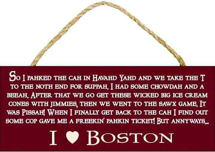 Perfectly describes an authentic Boston accent :D