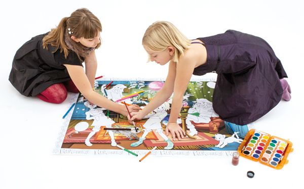 #BoMaBi #Bibi Blocksberg ● Poster 118 x 84 cm zum #ausmalen incl. 6 Jumbomalern ● #Malen, #Spielen, #joyPac®