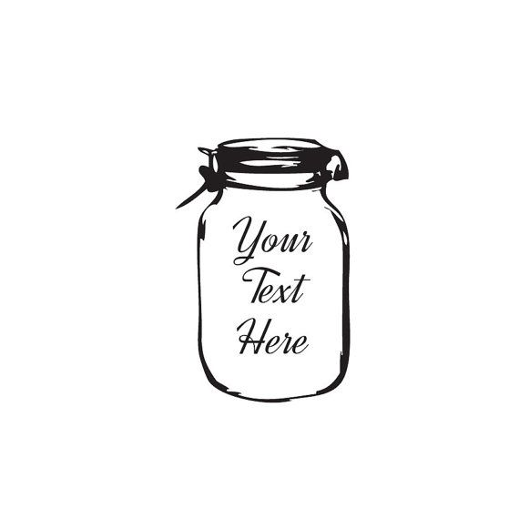 Custom Mason Jar stamp custom stamps monogram gifts is perfect for adding that extra touch.    Size 2 x 3 require a different size please