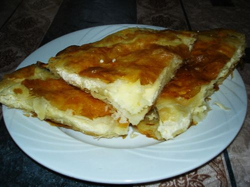 cheese burek... a childhood fave. basically feta and cream cheese in filo dough.