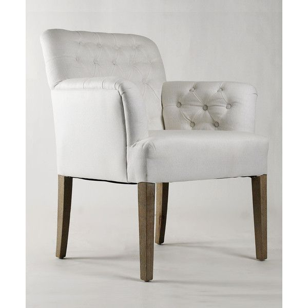 Zentique Barrois Tufted Arm Chair ($913) ❤ liked on Polyvore featuring home, furniture, chairs, accent chairs, beige tufted chair, egg shell chair, tufted arm chair, tufted chair and beige chair