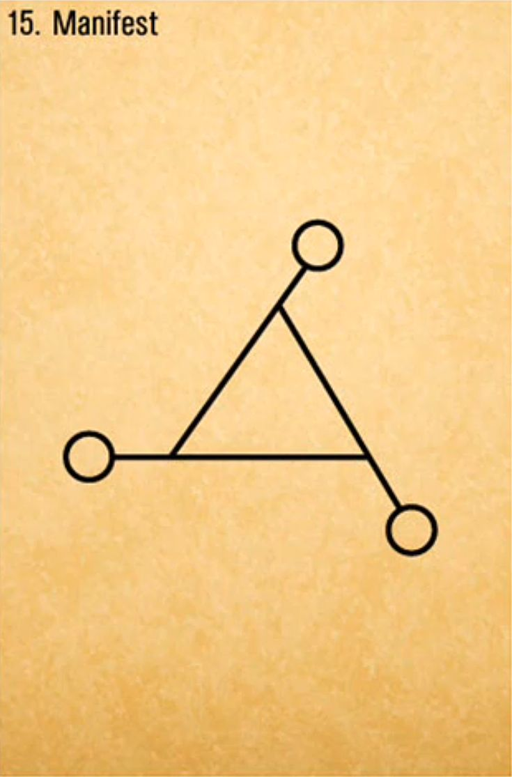 Manifest symbol / Sacred Geometry <3