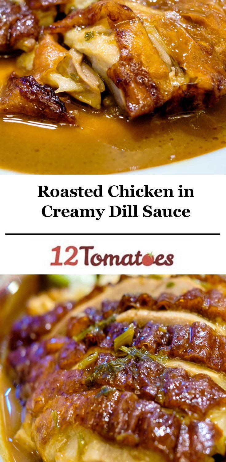 Chicken In Creamy Dill Garlic Sauce
