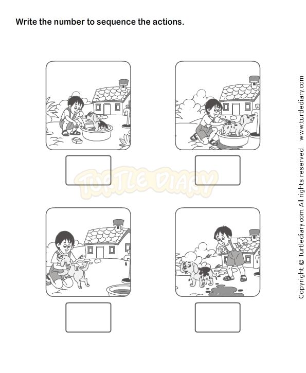 Story sequence worksheet t