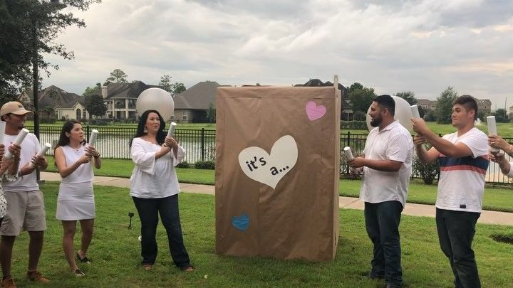 Watch A Giant Baby Jump Out Of A Box Dance At A Gender Reveal Party Insider Gender Reveal Party Reveal Parties Gender Reveal