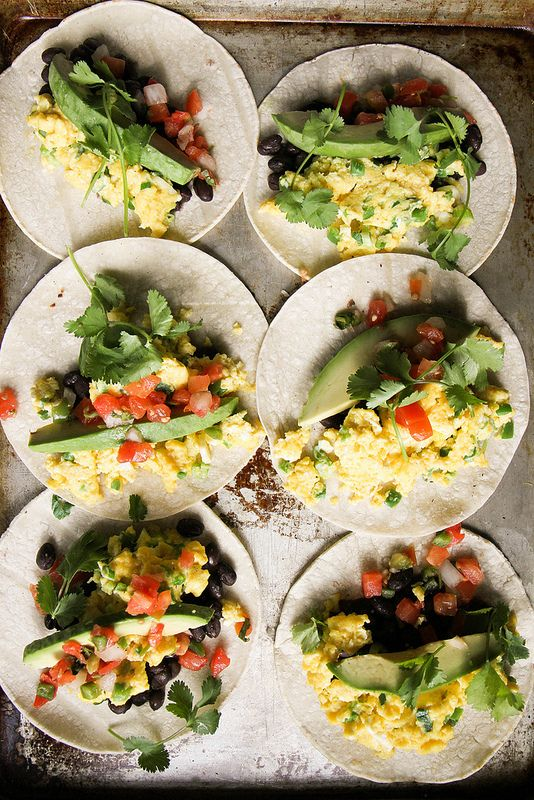 Breakfast tacos, Tacos and Scrambled eggs on Pinterest
