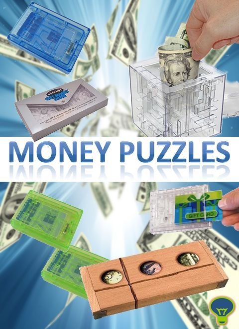 A great and challenging way to represent a gift of money or a gift card. Place your gift inside and force the recipient to solve the puzzle in order to retrieve it!