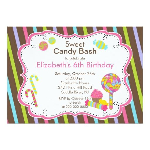 393 best candy birthday party invitations images on pinterest, Birthday invitations