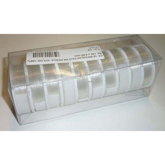 Filo pesca nylon 100% 10 rotolini