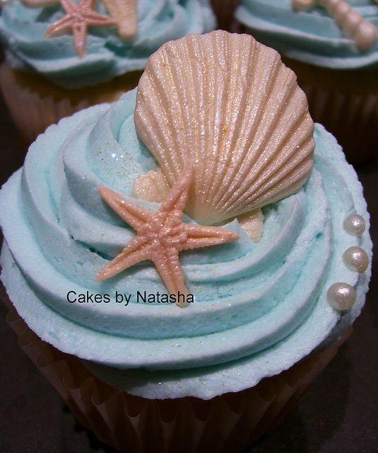 Nautical themed cupcakes by Cakes by Natasha, via Flickr...LOVE!!! <3